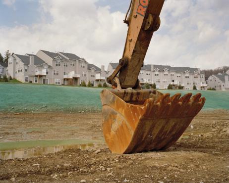 Construction Vehicle「Construction crane on site」:スマホ壁紙(16)