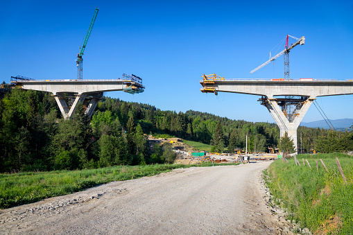 Earth Mover「Construction of the viaduct on the new S7 highway, Skomielna Biala, Poland」:スマホ壁紙(11)