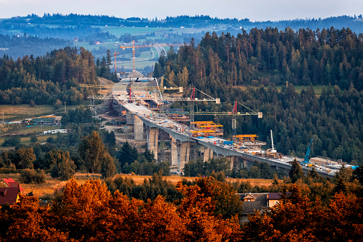 Road Construction「Construction of the viaducts on the new S7 highway, Skomielna Biala, Poland」:スマホ壁紙(13)