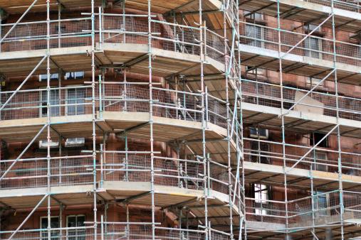 Restoring「Construction Site with Scaffolding」:スマホ壁紙(8)
