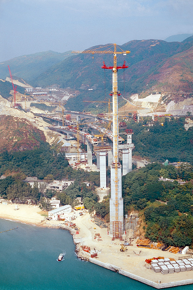Bridge - Built Structure「Construction of approach Viaduct for Ting Kau Cable Stay Bridge. Hong Kong.」:写真・画像(7)[壁紙.com]