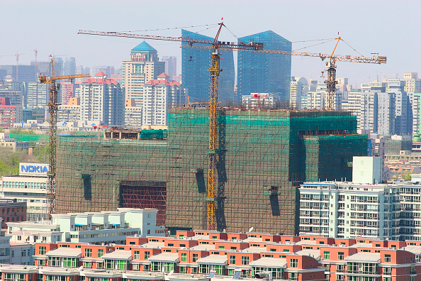 Urban Skyline「A construction site near Dongzhimen in central Beijing.」:写真・画像(18)[壁紙.com]