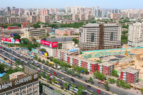 Urban Skyline「Construction sites on the second ring road near Guo Mao in Beijing」:写真・画像(14)[壁紙.com]