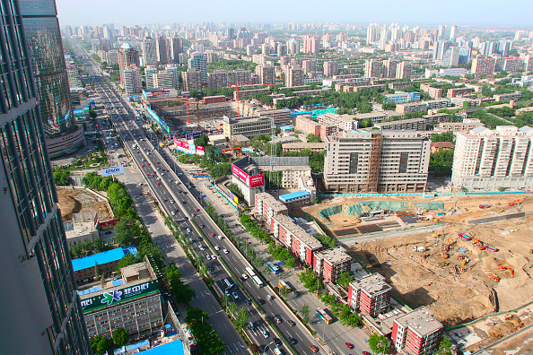 Urban Skyline「Construction sites on the second ring road near Guo Mao in Beijing」:写真・画像(1)[壁紙.com]