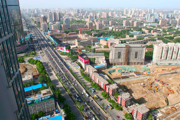Construction sites on the second ring road near Guo Mao in Beijing:ニュース(壁紙.com)