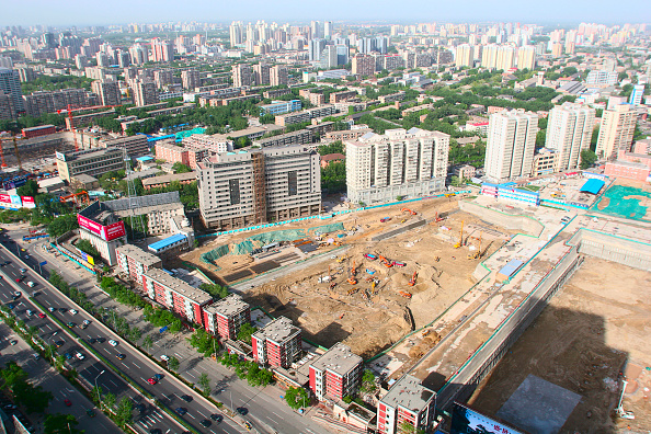 Urban Skyline「Construction sites on the second ring road near Guo Mao in Beijing」:写真・画像(18)[壁紙.com]