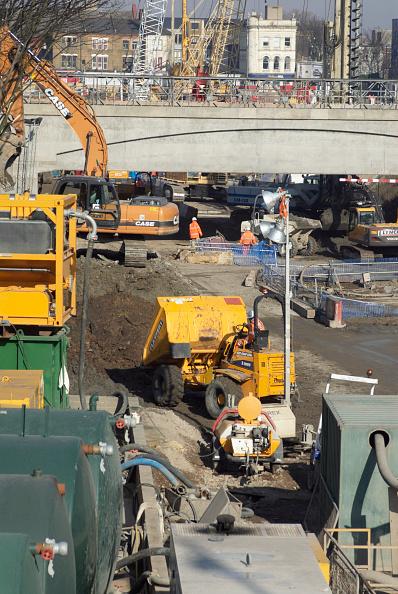 Copy Space「Construction work of the new East London train line, London, UK」:写真・画像(0)[壁紙.com]