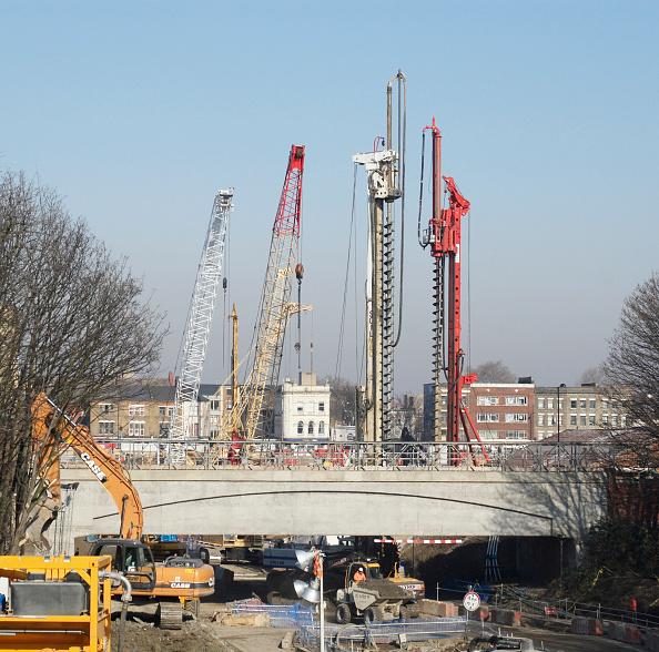 Copy Space「Construction work of the new East London train line, London, UK」:写真・画像(7)[壁紙.com]