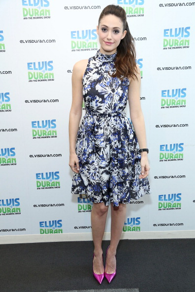 Metallic Shoe「Emmy Rossum Visits Elvis Duran Z100 Morning Show」:写真・画像(8)[壁紙.com]