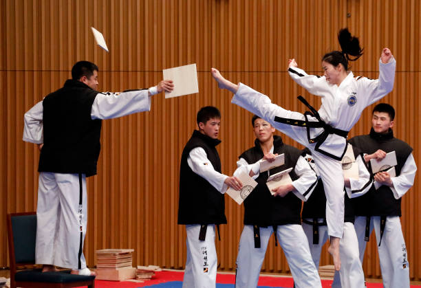 South Korea「North And South Korea Hold Joint Taekwondo Performance In Seoul」:写真・画像(4)[壁紙.com]
