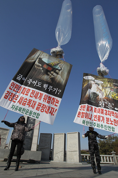 Handout「North Korean Defectors Release Propaganda Balloons In Protest Against Nuclear Test」:写真・画像(13)[壁紙.com]