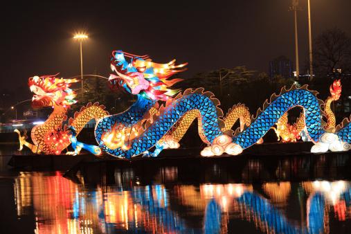 Lunar New Year;「Chinese lantern dragon」:スマホ壁紙(6)