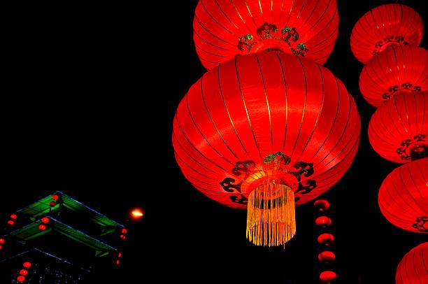 Chinese lanterns:スマホ壁紙(壁紙.com)