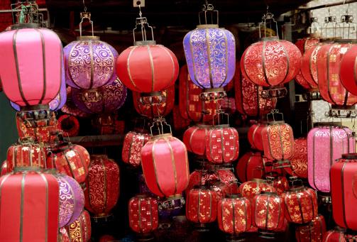 Chinese Lantern「Chinese lanterns, Panjiayuan weekend market, Beijing, China」:スマホ壁紙(3)