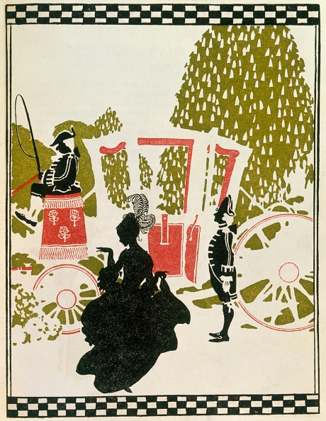 Fairy Tale「Cinderella Leaving The Ball From Cinderalla Pub 1919  Colour Lithograph」:写真・画像(13)[壁紙.com]