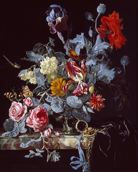 Vase「A Vase Of Flowers With A Watch」:写真・画像(16)[壁紙.com]