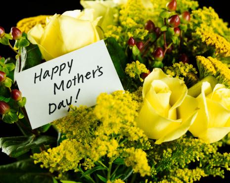 母の日「Mother's Day note on boquet」:スマホ壁紙(0)