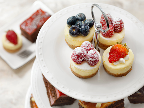 Raspberry「Afternoon Tea Three Tier Stand of Desserts」:スマホ壁紙(12)