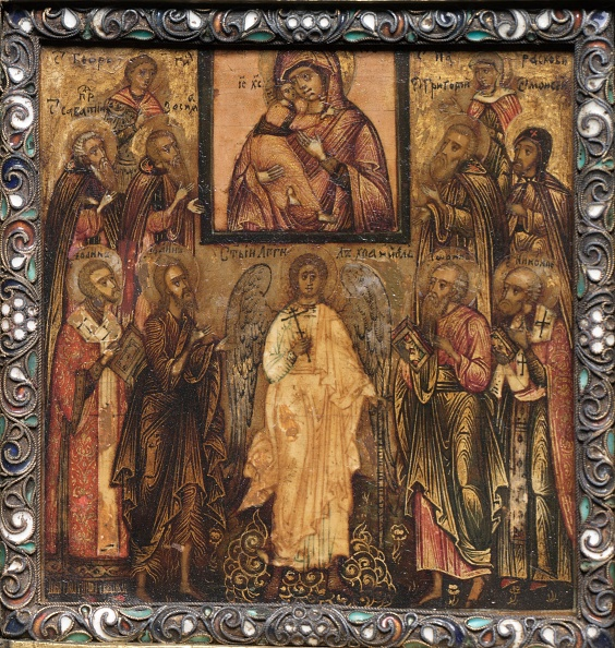 Portability「Portable Triptych Icon: Adoration Of The Miracle-Working Icon Of The Vladimir Mother Of God,1600S. Creator: Unknown.」:写真・画像(17)[壁紙.com]
