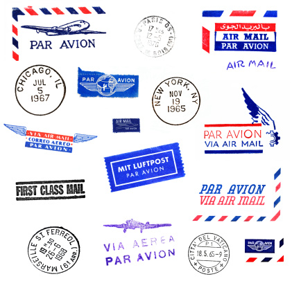 French Culture「Air Mail and World Cities Postmarks」:スマホ壁紙(15)