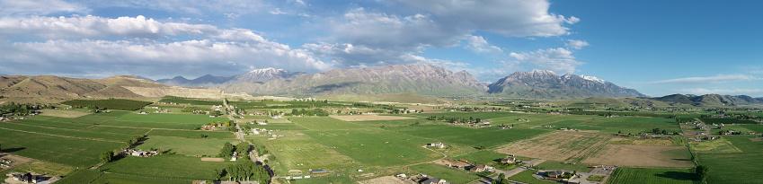 Utah「Rural farmland aerial view Utah panorama」:スマホ壁紙(18)