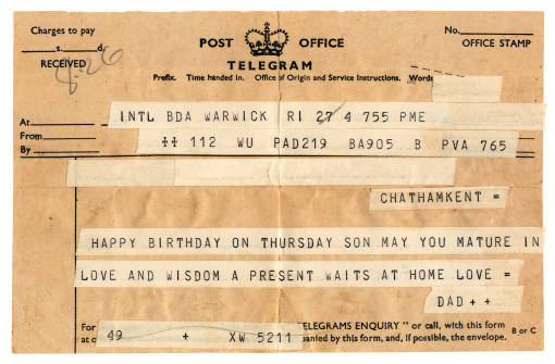 20th Century Style「Old British birthday congratulations telegram」:スマホ壁紙(16)