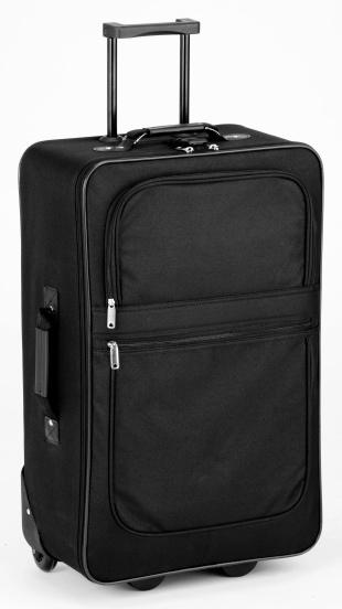 Black Color「A black suitcase on a white background 」:スマホ壁紙(17)