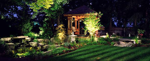 Garden at Night:スマホ壁紙(壁紙.com)