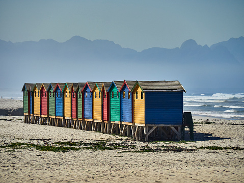 Changing Cubicle「Colorful cabanas at Muizenberg beach, South Africa」:スマホ壁紙(13)