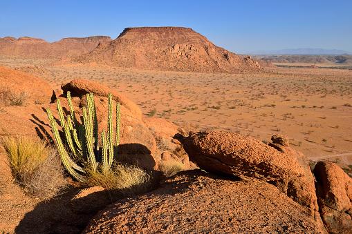 Namib-Naukluft National Park「Africa, Namibia, Kunene Province, Namib Desert, Damaraland, Twyvelfontein, Aba Huab valley, granite landscape」:スマホ壁紙(4)