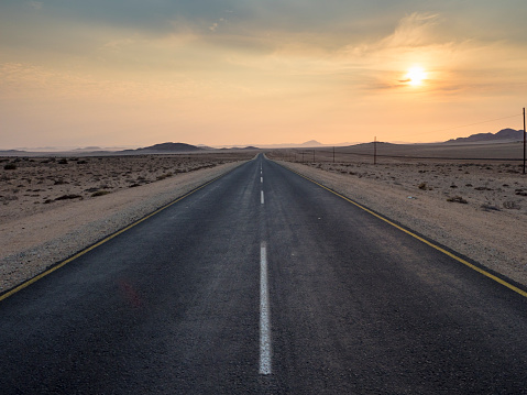 Empty Road「Africa, Namibia, B4 road in the morning」:スマホ壁紙(0)