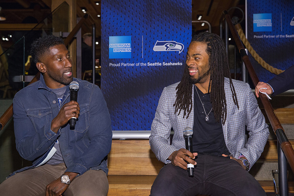American Express「Seattle Seahawks / American Express Blue Friday: Chalk Talk With Richard Sherman And Marcus Trufant At Starbucks Roastery」:写真・画像(14)[壁紙.com]