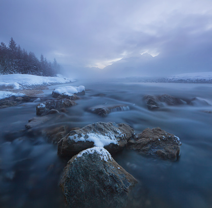 Lech Valley「dawn at the lech river near forchach, tirol, austria」:スマホ壁紙(10)