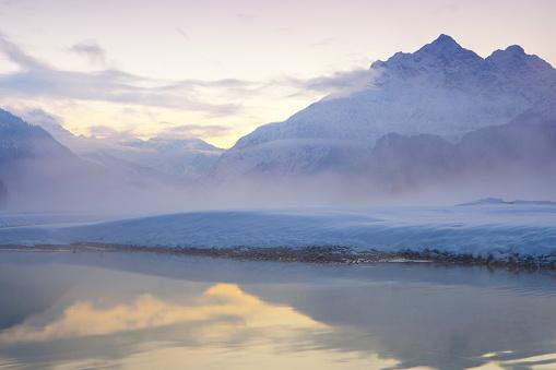 Lech Valley「dawn at the lech river near forchach, tirol, austria」:スマホ壁紙(13)