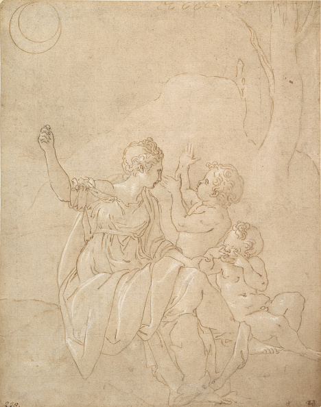Poitiers「Classical Female Figure (Diana Or Venus) With Two Infants」:写真・画像(5)[壁紙.com]