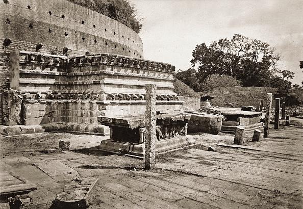 1880-1889「Stupa In Anuradhapura. Sri Lanka. Photograph. About 1885.」:写真・画像(15)[壁紙.com]