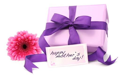 母の日「パープルのギフトボックスには、母の日カード」:スマホ壁紙(4)