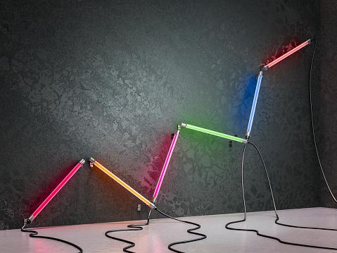 Tube「Neon tubes Graph」:スマホ壁紙(2)