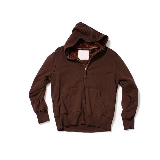 Brown Hooded-Sweatshirt on White Background:スマホ壁紙(壁紙.com)