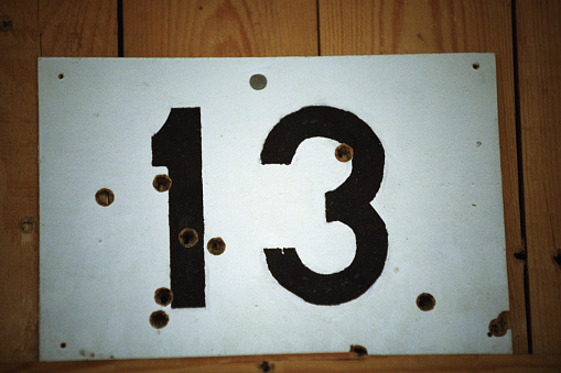 Number 13「Sign Number 13 With Bullet Holes In Shooting Range」:スマホ壁紙(16)
