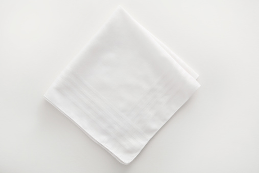 Napkin「White napkin cloth on white background」:スマホ壁紙(2)