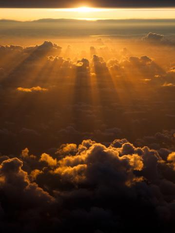 Spirituality「Sunset from the sky」:スマホ壁紙(1)