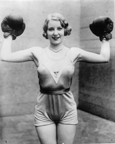 Irishwoman Elsie Connor, boxing champion at Broadway, Photograph, Around 1930:ニュース(壁紙.com)