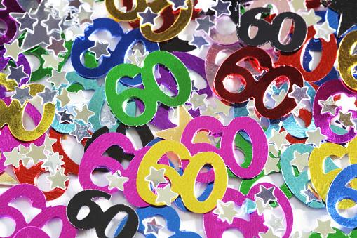 Birthday Card「60 confetti」:スマホ壁紙(7)