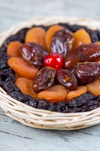 Plum「Various dried fruits in a basket」:スマホ壁紙(17)