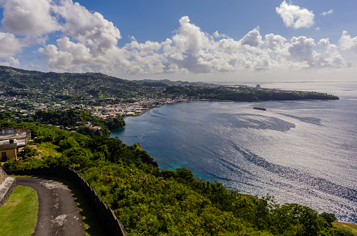 Saint Vincent And The Grenadines「Caribbean, Grenadines, St. Vincent, as seen from Fort Charlotte」:スマホ壁紙(13)