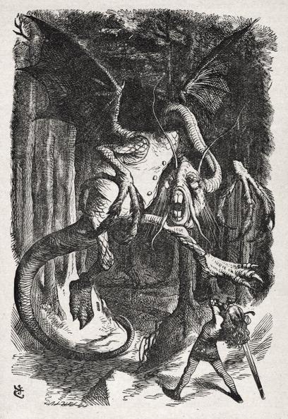 絵「Jabberwocky, from Through the Looking-Glass (And What Alice Found There) by Lewis Carroll (Charles Lutwidge Dodgson), English children's writer and mathematician」:写真・画像(18)[壁紙.com]