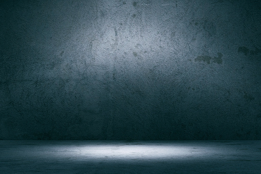 Gray Color「Empty spotlit concrete background」:スマホ壁紙(17)