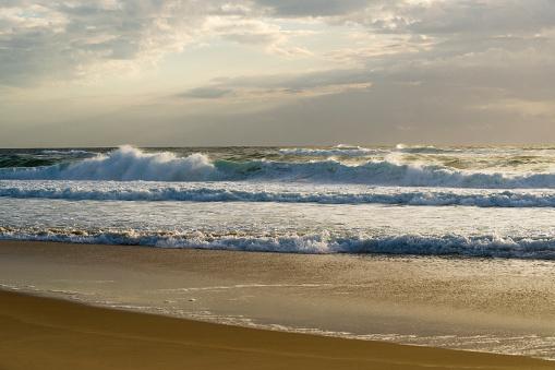 France「France, Lacanau, view to Atlantic at evening twilight」:スマホ壁紙(6)