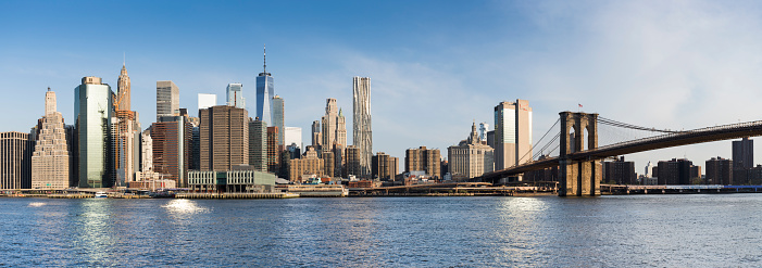 New York State「Manhattan panorama view from Brooklyn Bridge Park」:スマホ壁紙(10)
